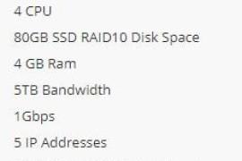 Hiformance双十一特惠 4核4GB 5IP 三机房可选 KVM 月付10刀
