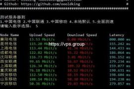 SuperSpeed.sh 一键测试服务器到国内的速度